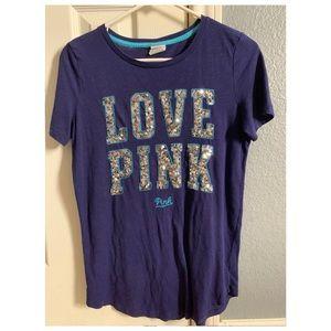 Vs pink sequins shirt